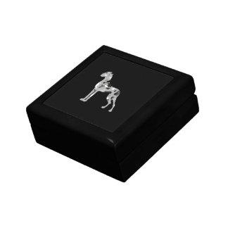 Grautiger Doggensilhouette Jewelry Box