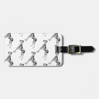 Grautiger Doggensilhouette Luggage Tag