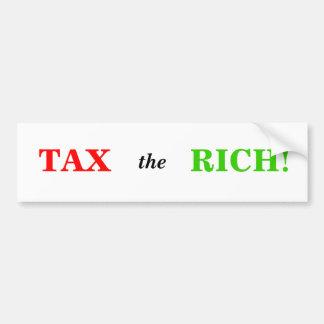 Grave a los ricos etiqueta de parachoque