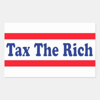 ¡Grave a los ricos! Pegatina Rectangular