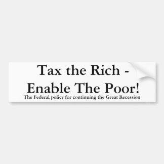 ¡Grave a los ricos - permita a los pobres! , El po Pegatina Para Auto