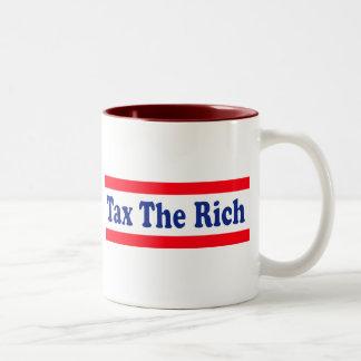 ¡Grave a los ricos! Taza De Dos Tonos
