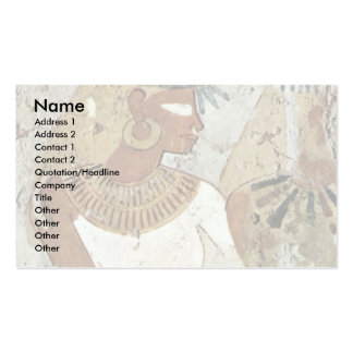 Grave Chamber Of Nebseni Scene Lady At A Banquet B Double-Sided Standard Business Cards (Pack Of 100)