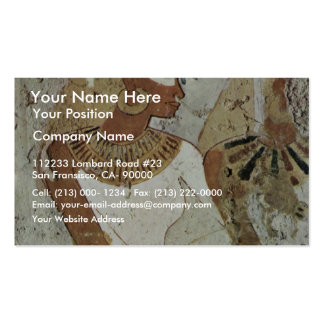 Grave Chamber Of Nebseni Scene Lady At A Banquet B Business Card