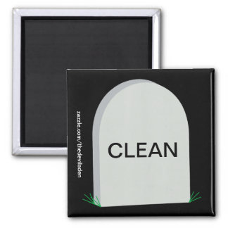 Grave Clean Dirty Dishwasher Magnet