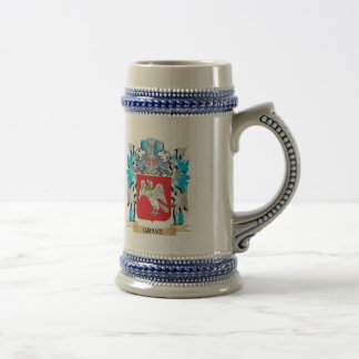 Grave Coat of Arms - Family Crest 18 Oz Beer Stein