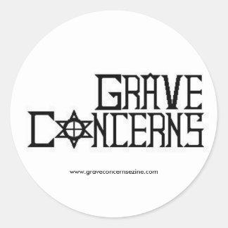 Grave Concerns E-zine Round sticker