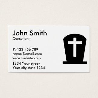 Grave cross business card
