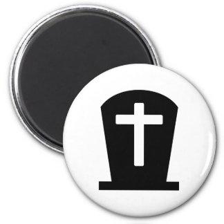 Grave cross magnet