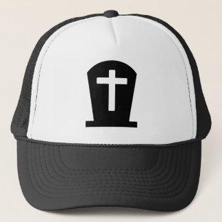 Grave cross trucker hat