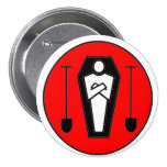 Grave Digger 3 Inch Round Button