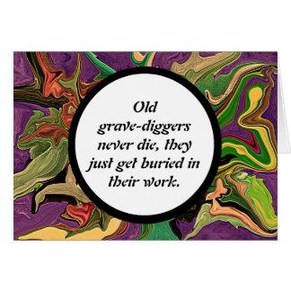 grave diggers joke card