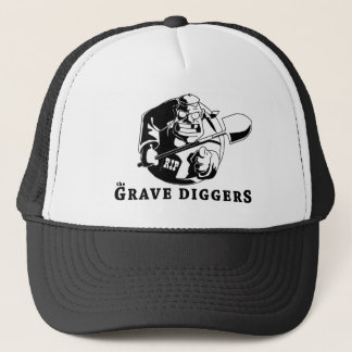 grave diggers logo trucker hat
