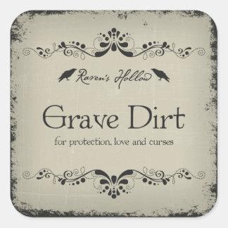 Grave Dirt Halloween Jar Sticker