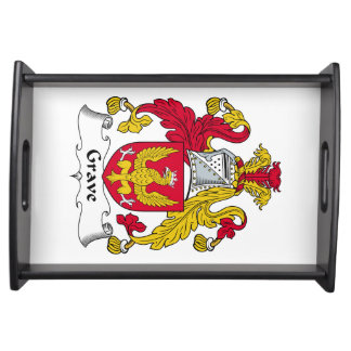 Grave Family Crest Food Tray