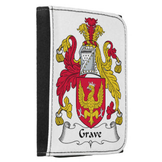 Grave Family Crest Leather Tri-fold Wallet