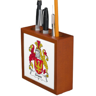 Grave Family Crest Pencil/Pen Holder