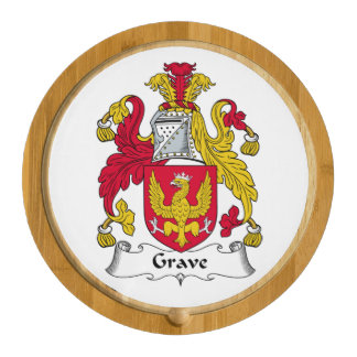 Grave Family Crest Round Cheese Board