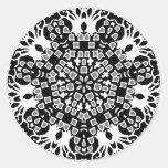 Grave Mosaic Round Stickers