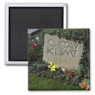 Grave Of Gustav Klimt 2 Inch Square Magnet