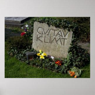 Grave Of Gustav Klimt Poster