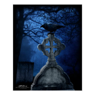 Grave Raven 16x20 Poster