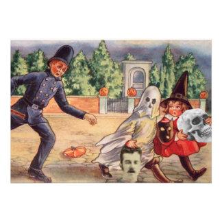 Grave Robber Cop Ghost Witch Skull Pumpkin Custom Invite