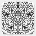 Grave Star Square Stickers