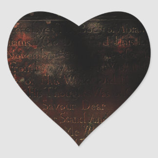 Grave Stone from the 1700's Halloween Heart Sticker