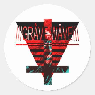 gRAVE.wAVE Classic Round Sticker