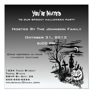 Grave Yard Halloween invitations
