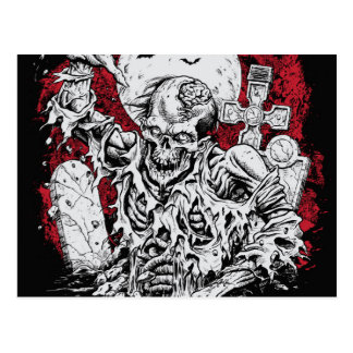 Grave Zombie Postcard