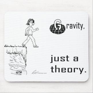 Gravedad apenas una teoría Negro y blanco mous Alfombrillas De Ratones
