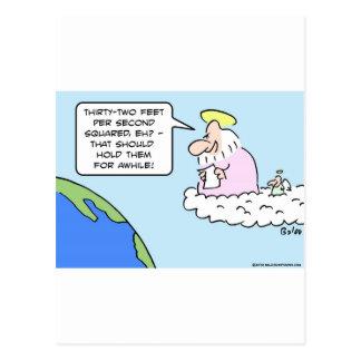 gravedad de la tierra del ángel de dios treinta y tarjetas postales