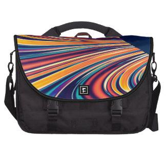 Gravedad solar y magnetismo abstractos 2 del color bolsas para portátil