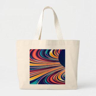 Gravedad solar y magnetismo abstractos 2 del color bolsa tela grande