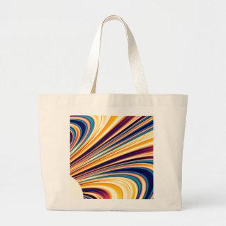 Gravedad solar y magnetismo abstractos 5 del color bolsa tela grande