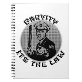 Gravedad su la ley libreta espiral