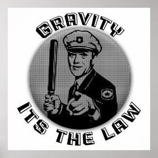 Gravedad su la ley póster