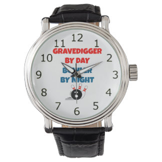 Gravedigger by Day Bowler by Night Wrist Watch