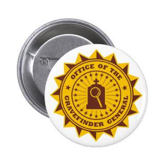 Gravefinder General 2 Inch Round Button