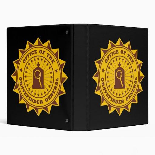 Gravefinder General Vinyl Binders