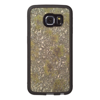 Gravel and grass wood phone case