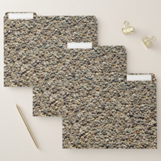 Gravel and Sand Realistic Texture Photo File Folder
