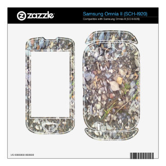 gravel and stone samsung omnia II decals