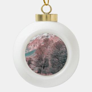 Gravel Empty Road - Parque Nacional Los Glaciares Ceramic Ball Christmas Ornament