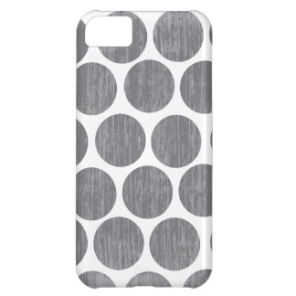 Gravel Gray Distressed Polka Dot iPhone Case For iPhone 5C