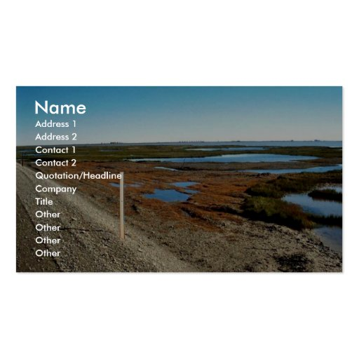 Gravel Road with North Slope Oil fields in backgro Business Card