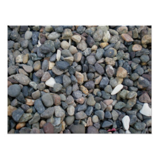 Gravel Rocks and Color Poster