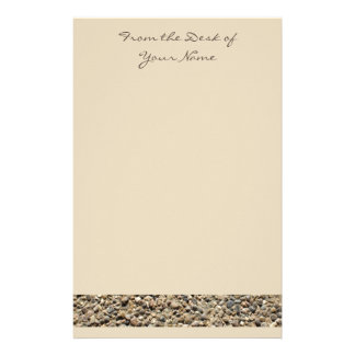 Gravel & Sand Photo Personalizable Stationery